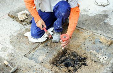 infiltration-water-floor concrete